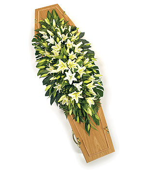 Oriental Lilly Casket Spray