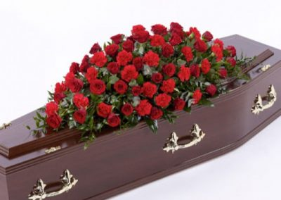 Rose & Carnation Casket Spray
